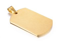 Dije Colgante Dog Tag Placa De Acero Inoxidable PS-0625B
