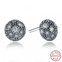 NEW Presents 925 Sterling Silver Cosmic Stars Stud Earrings Clear CZ Fashion Jewelry Special Store PAS417 EARR-0009