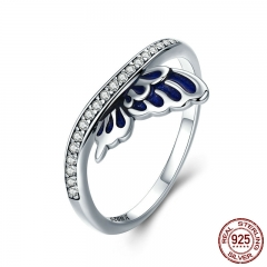 Genuine 100% 925 Sterling Silver Butterfly Fairy Wings Finger Rings for Women Wedding Engagement Jewelry Gift SCR330 RING-0421