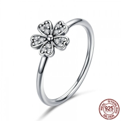 Hot Sale 100% 925 Sterling Silver Wedding Daisy Flower Finger Rings for Women Sterling Silver Jewelry Gift S925 SCR398 RING-0446