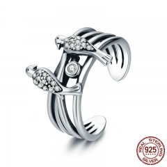 New Collection 925 Sterling Silver Magpie Family Story Finger Rings for Women Sterling Silver Jewelry Gift for Mom SCR325 RING-0377