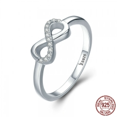 Hot Sale 100% 925 Sterling Silver Forever Infinity Love Finger Rings for Women Wedding Anniversary Jewelry Anel SCR332 RING-0371