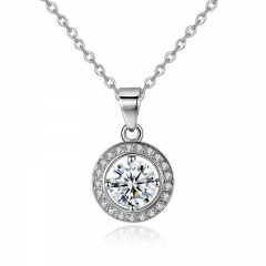 Summer Collection Silver Color Round Shape Full Of Love Necklaces & Pendants Women Fashion Jewelry YIN056 FASH-0107