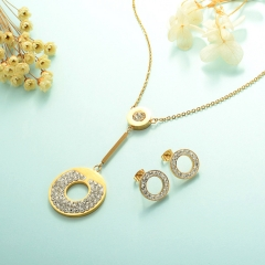 Conjunto de joyas de acero inoxidable 18k Gold Jewelry Wholesale XXXS-0232