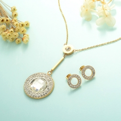 Conjunto de joyas de acero inoxidable 18k Gold Jewelry Wholesale XXXS-0233